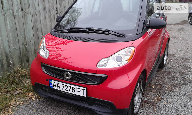 Smart fortwo 2013 года