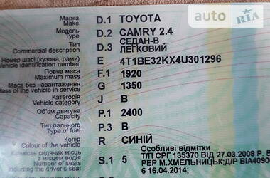 Toyota Camry 2004 в Черновцах