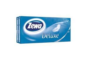 Носовые платки Zewa Deluxe 3 слоя 10 шт х 10 пачек (9011111516145)