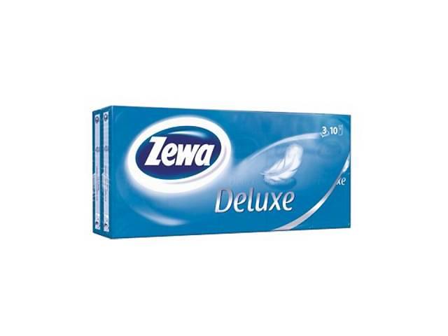 продам Носові хустки Zewa Deluxe 3 шару 10 шт х 10 пачок (9011111516145) бу в Києві