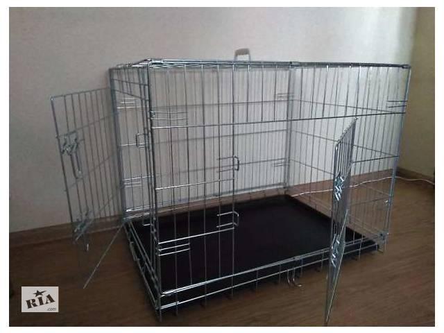 бу Переноска вольер клетка для собак кошек птиц 93х61х69 см, 2-двери в Киеве