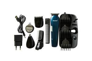 Универсальный мужской триммер для бороды усов носа и тела Kemei KM 550 8в1 машинка для стрижки