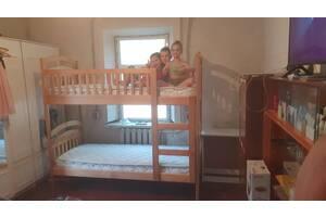 Акція. Двох'ярусне ліжко з ящиками і матрацами
