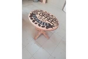 Авторский кофейный столик из массива ясеня, дуба, ольхи или груши.