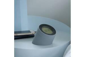 Будильник-лампа Gingko The Edge Light серый