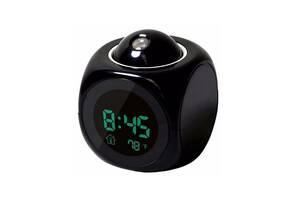 Часы будильник с проектором звезд ночник Kronos (bks_02390)
