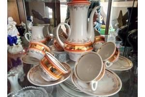 Чайный, кофейный сервиз на 6 персон с позолотой