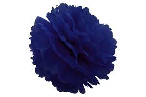 Декор бумажные Помпоны 25см (синий)