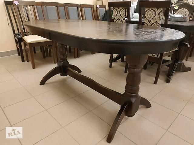 бу Дерев'яний стіл гостинний розкладний 160х90+40 овальний в гостинну в Львове