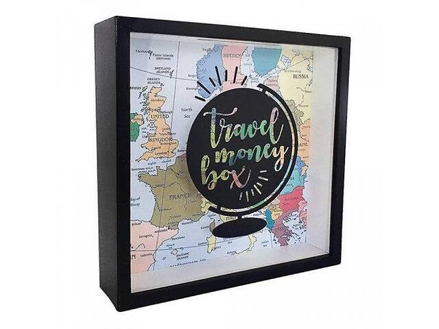 Деревянная копилка для денег Travel money box Глобус- объявление о продаже  в Одессе