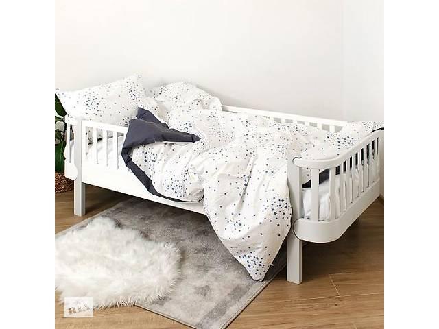 продам Детская полуторная сменная постель Twins Star хлопковая в кроватку, 4 элемента, серая бу в Киеве