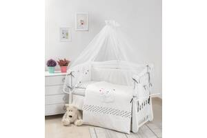 Детская постель для кроватки без балдахина Twins Evolution Полярные медведи 7 элементов A-037, белая