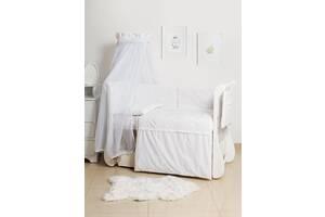 Детская постель с бортиками в кроватку 8 элементов с балдахином Twins Dolce Loving bear D-010