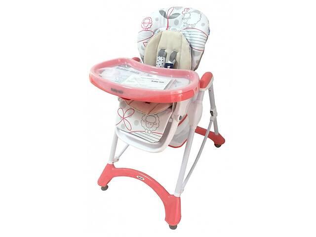 купить бу Детский стульчик для кормления со столешницей на колесиках Baby Mix YQ-198, розовый в Киеве