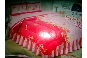 Двох-спальний постільний комплект з ковдрою в-во Туреччина, 100% бавовна. фото відповідає