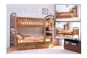Двоярусне ліжко Каріна з ящиками + матраци.