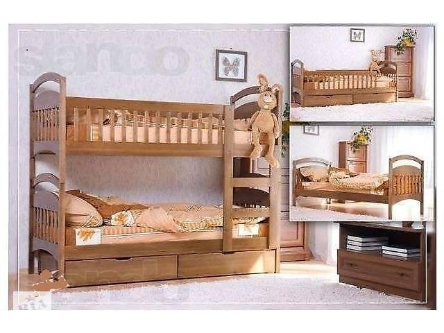 купить бу Двухъярусная кровать Карина с ящиками+матрасы. в Киеве