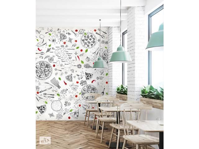 продам Обои без виниловые на кухню кофейню ресторан пиццерию Pizzeria 250 см х 155 см бу в Киеве