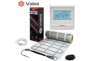 Електрична тепла підлога Valmi Mat 2,5м² /500Ват/200Вт/м² нагрівальний мат під плитку з терморегулятором E 51
