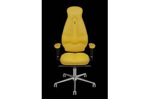 Эргономичное кресло KULIK SYSTEM GALAXY Желтое (1101)