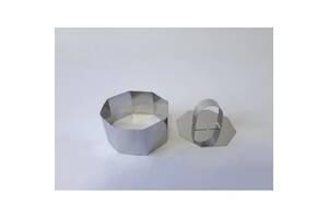 Форма кондитерская 8x4 см Восьмигранник с выдавливателем нерж.сталь 19541