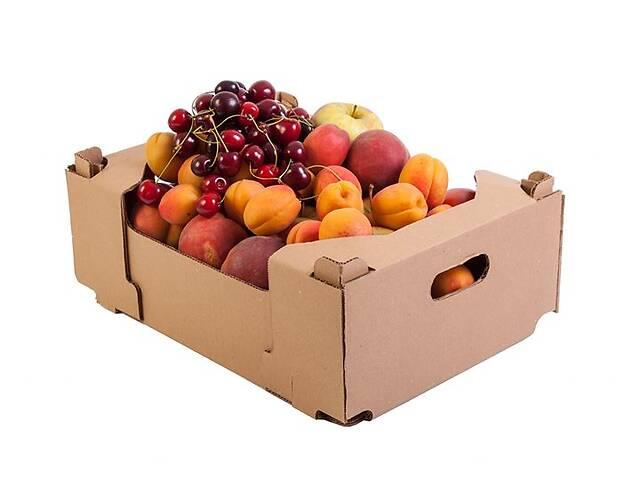 Фруктовый гофролоток, гофроящик для фруктов, картонный ящик для фруктов