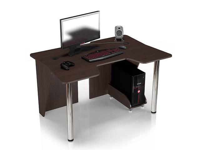 Геймерский игровой компьютерный прямой стол ZEUS™ / ЗЕУС™  IGROK / ИГРОК 3L с LED подсветкой Венге- объявление о продаже  в Киеве