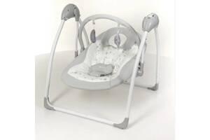 Гойдалка-шезлонг для дитини з народження El Camino ME 1047 AIRY Stars Gray, зі звуком і укачиванием, сірий