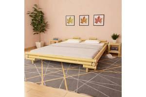 Каркас ліжка 160 x 200 cm натуральний бамбук 247291