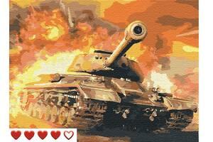 Картины по номерам Детям Машина Танки танк Brawl Stars Бравл Старс игра Мстители автомобиль техника транспорт машина