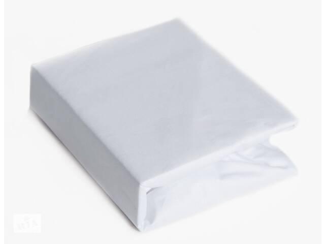Хлопковая простынь на резинке в детскую кроватку 120/60 см, белая.  Подарок на выписку из роддома- объявление о продаже  в Києві