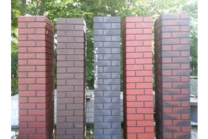 Клинкерные столбы в формате сплошных столбиков