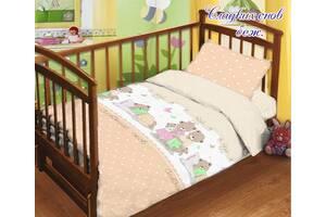 Комплект постельного белья детский в кроватку с простыней на резинке