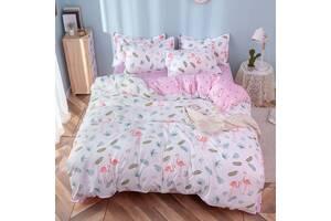 Комплект постельного белья Фламинго и листья (двуспальный-евро) Berni Home