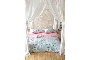 Комплект постельного белья Prestige Лотос серо-розовый евро SKL29-250702