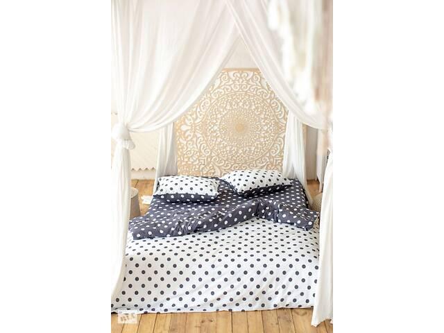 продам Комплект постельного белья Prestige Silver Горошек черно-белый двуспальный SKL29-250684 бу в Харкові