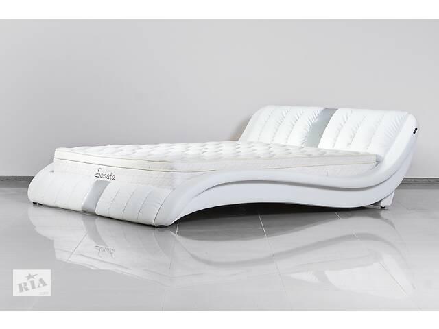 продам Кожаная двуспальная кровать Sonata Mobel B250 Белая бу в Одессе