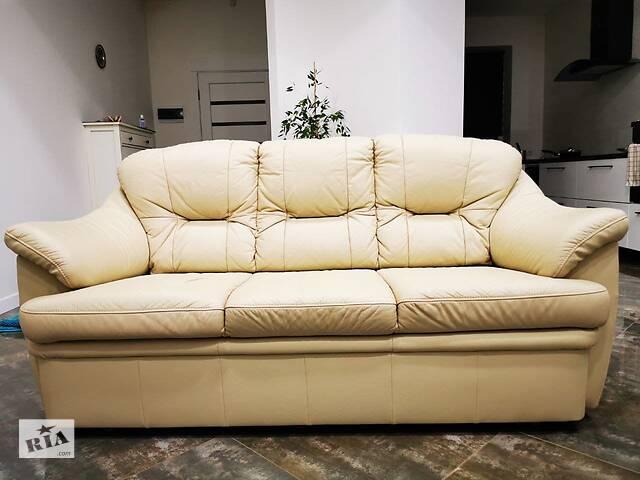 продам кожаный польский диван бу в Виннице
