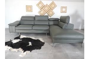 красивый кожаный уголок,удобный кожаный угловой диван