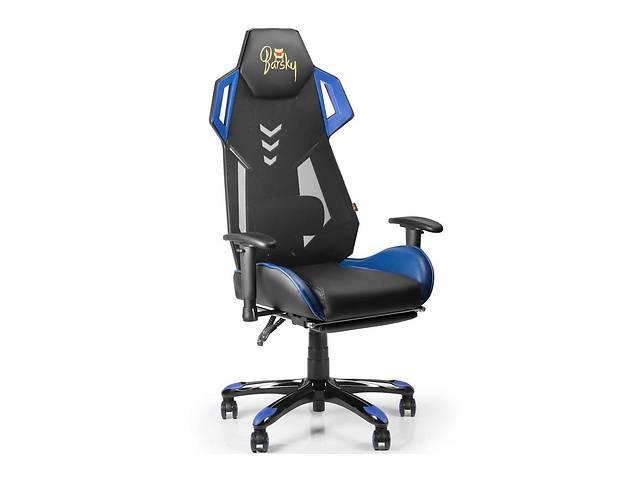 Кресло геймерское компьютерное игровое с подставкой для ног Barsky / Барски Game Mesh Blue / Black- объявление о продаже  в Киеве