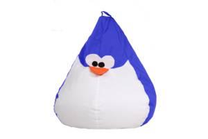 Кресло-мешок детский Пингвин Голубой