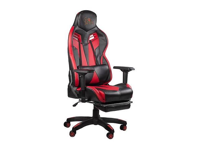 Кресло офисное игровое компьютерное геймерское с подставкой для ног Barsky / Барски Game BG-01 / BG-02 черный / красный- объявление о продаже  в Киеве