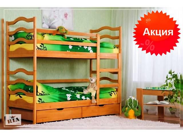 Кровать двухъярусная детская трансформер София деревянная натуральное дерево ольха с производства
