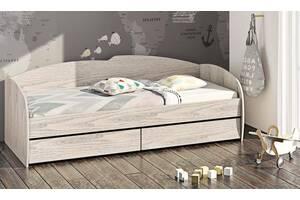 Ліжко зі спинкою, бортиком і ящиками К - 117 90 * 200