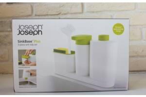 Кухонный органайзер для раковины SINK BASE PLUS с дозатором для мыла и бутылочкой