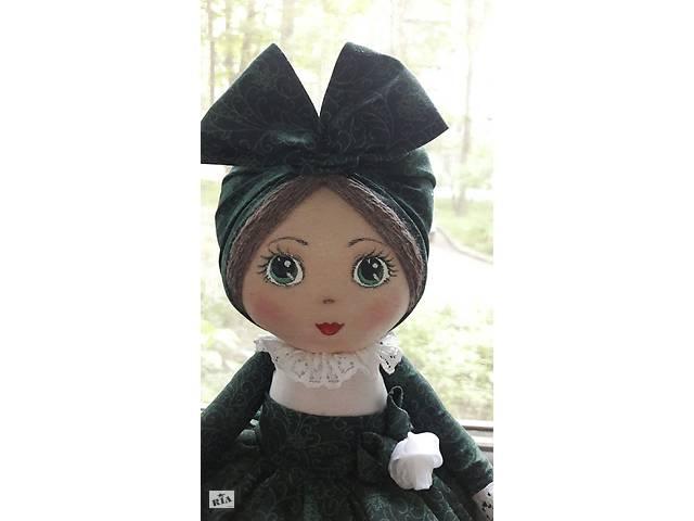 купить бу Кукла-грелка на заварочный чайник ручной работы в зелёном сарафане в Харькове