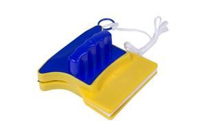 Магнитная щетка для мытья окон Желто-синяя (12260)