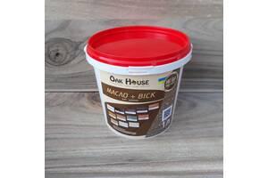 Масло льняное с воском тм Oak House для пропитки и защиты деревяных изделий, цвет Серый
