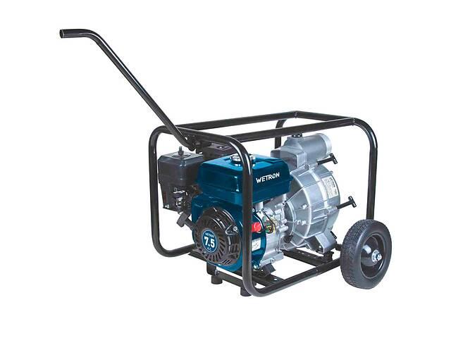 продам Мотопомпа 7.5л.с. Hmax 26м Qmax 60м³/ч (4-х тактный) для грязной воды WETRON (772557) бу в Львове