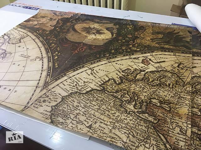 бу Мировая карта обои крупный элемент из центральной части карты времен Колумба 150 см х 116 см в Киеве